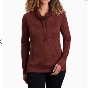 Kuhl Lea Pullover Cowl Neck Sweater in Rust